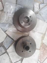 Disco de freio sólido e tambor de freio traseiro gol g2