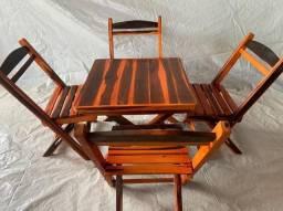 Título do anúncio: Conjunto dobrável com 4 cadeiras promoção