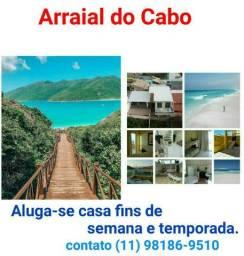 Aluga-se Casa em Arraial do Cabo. Caribe Brasileiro