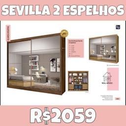 Sevilla 2 espelhos real móveis Sevilla 2 espelhos guarda roupa