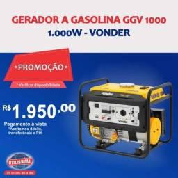 Título do anúncio: Gerador à Gasolina 1.000w  ? Entrega grátis