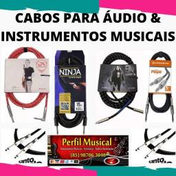 Cabos para instrumentos p10 Xlr várias marcas fazemos entregas