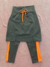 Calça capri com saia P N 36/38 (entrega grátis)