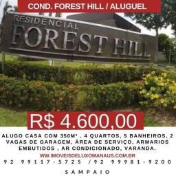Alugo bela casa no Cond. Forest Hill com 250m² ,4 quartos.