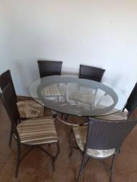 Mesa de jantar redonda 6 lugares