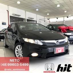NETO - Honda Civic LXS 1.8 2013 Automático - 104 mil km
