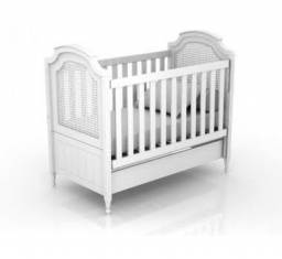 Berço/Mini-cama Provençal Branco Quater