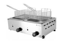 Fritador a Gás Óleo Inox 2 Cubas Venâncio Fritadeira Sfg212