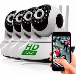 Câmera WiFi 720p HD Infravermelho. controle prático pelo celular APP ou PC