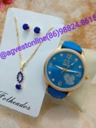 Kit relógio feminino promoção