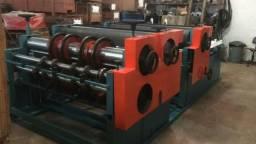 Maquina impressora flexográfica Barban 1.600mm 2 cores puxada 900 mm