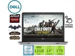 Notebook Gamer Dell| i7 | 12 GB| Tela Touch| SSHD 1TB