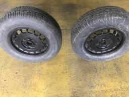 Par de rodas alumínio p carretinha, barco, jet,
