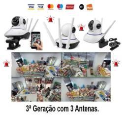 Câmera Segurança Wifi, Babá Eletrônica Visão Noturna, Android, Iphone Wi-fi