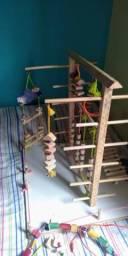Playground para calopsitas e outros