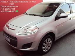 Fiat - Palio Attractive 1.0 Flex - Completo - 1ª Dona - Placa A - 2016
