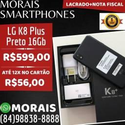 LG K8 Plus 16Gb Preto (LACRADO+NF+GARANTIA DE FÁBRICA)