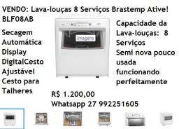 Vendo lavadoura semi nova de louças Brastemp 8 serviços