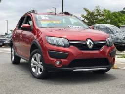 Renault Sandero Stepway 1.6 Flex Completo 60 mil km Ano 16 Vermelho - 2016