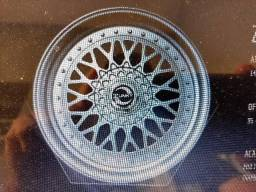 Roda aro 14 BBS Prata com Borda diamantada VW gol 4X100 jogo novo