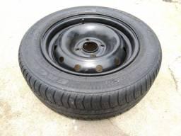 Roda com pneu aro 14