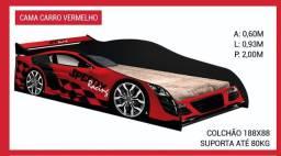 Cama carro vermelha