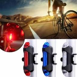 Luz Sinalizador USB Bike Ciclismo