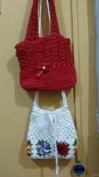 Título do anúncio: Kit Bolsa Infantil de Croché Nova 50 reais