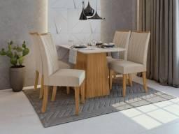Título do anúncio: Sala de Jantar Nevada 1,20m com cadeira apogeu - Entrega Grátis p/ Fortaleza