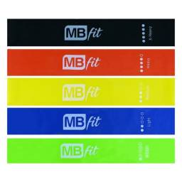 Kit 5 Faixas Elástica Para Treino TheraBand MBFit LY87150