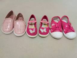 Lote calçados menina 20 21