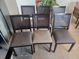 Título do anúncio: Cadeiras em ratã/linho