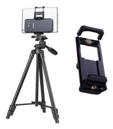 Tripé 1,30m + Adaptador Universal   Celular / Smartphone / Câmera
