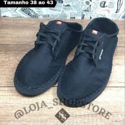 Tenis sapatilha com Cardaço preto