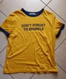 Camiseta amarela Zara