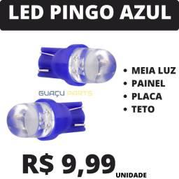 Led Pingo Meia Luz Teto Azul Unidade