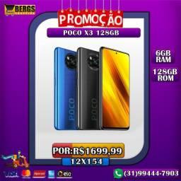 Pocophone X3 128GB- Ganhe Brinde - 12x154 - Promoção
