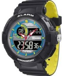 Título do anúncio: Relógio masculino X-GAMES esportivo com nota fiscal e manual.