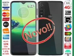 "Moto G8 Play Octa Core 32GB, Tela 6.2"", Tri Câm 13MP, Novo, Caixa, NF, Gar, Troco!"