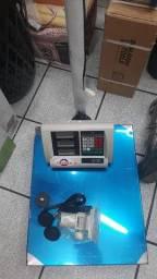 Balança plataforma 300 kilos com bateria recarregavel,documentação e garantia
