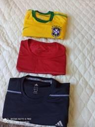 3 Camisas para prática de esportes e dia_dia em geral.