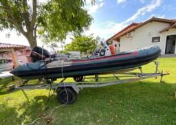 Título do anúncio: Bote inflável casco rigido 5mt, motor mercury 2t 90hp