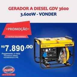 Título do anúncio: Gerador à Diesel 3600W GDV 3600 110/220V Vonder ? Entrega grátis
