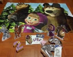 Título do anúncio: Kit aniversário Masha e o urso