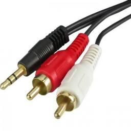 Título do anúncio: Cabo dw áudio auxiliar P2/2RCA