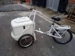 Bicicleta com bau para sorvete ou gelas