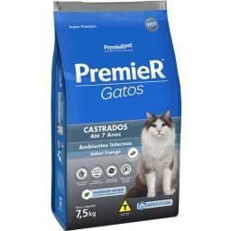 Título do anúncio: Ração Premier Ambientes Internos Gatos Castrados Até 7 Anos Frango 7,5kg