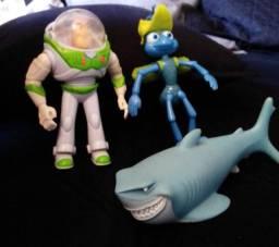 Título do anúncio: Coleção Mc Donalds Disney Pixar - Tubarão Bruce, Buzz e Flick