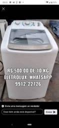 Máquina de l/roupa 500 reais aceito cartao