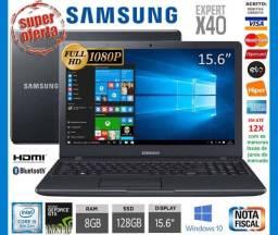 Título do anúncio: Notebook Samsung Core i5, 8GB, SSD 128GB, Tela 15.6?, Geforce, Novíss, Nota, Gar, Troco!